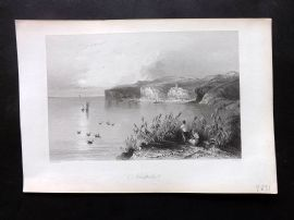 Bartlett Danube 1844 Antique Print. Nicopoli, Bulgaria